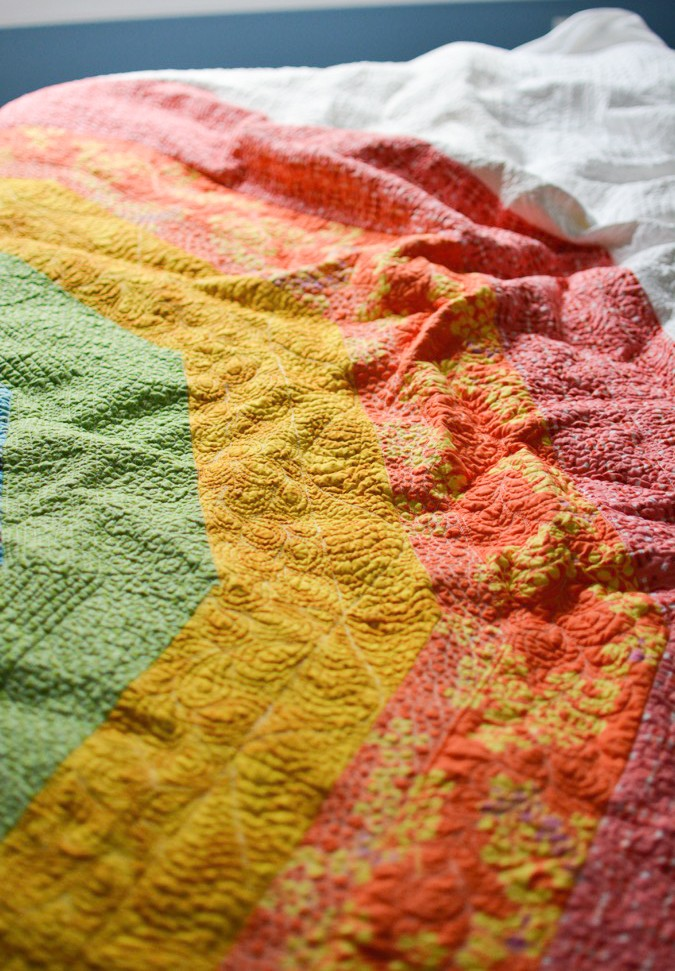 Giant GIANT Rainbow Quilt by crafterhours-27