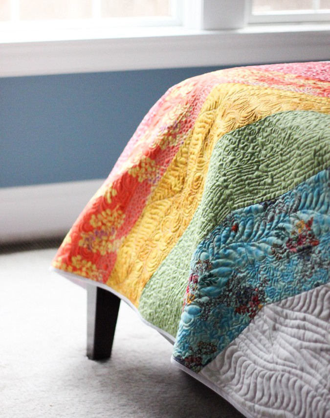 Giant GIANT Rainbow Quilt by crafterhours-3