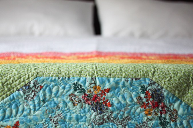 Giant GIANT Rainbow Quilt by crafterhours-6