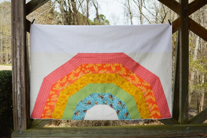 Giant GIANT Rainbow Quilt by crafterhours-8