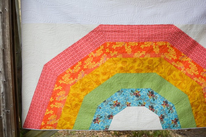 Giant GIANT Rainbow Quilt by crafterhours-9