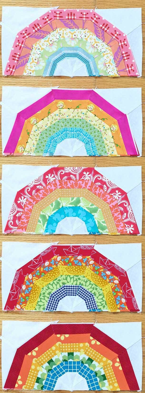 MINI giant rainbow quilt - photoshopped versions. See the post for the original!