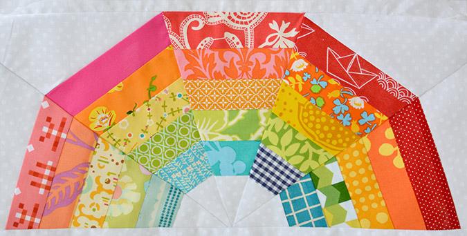 mini Giant Rainbow Quilt