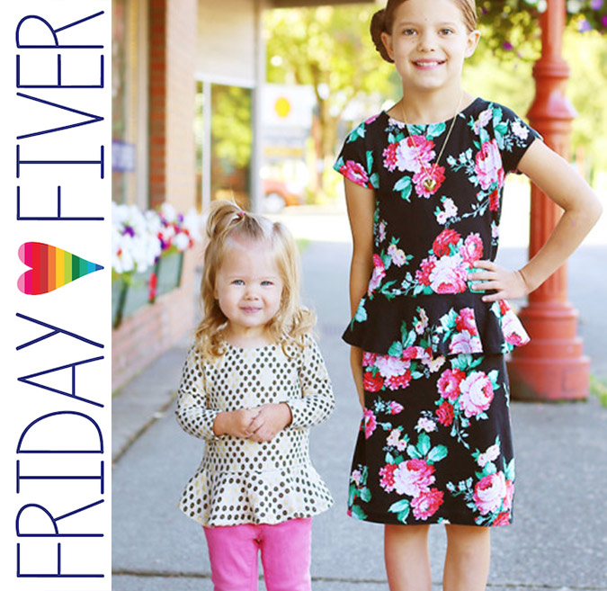 Friday Fiver Pretty in Peplum by Sew Much Ado
