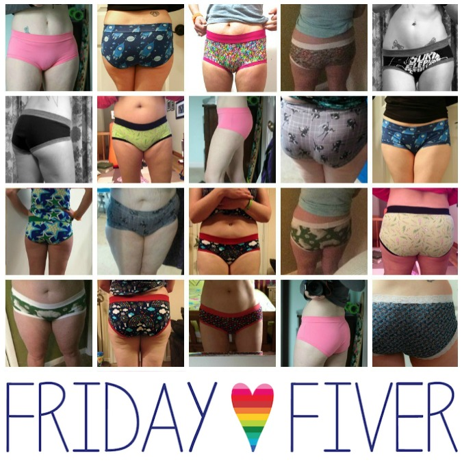 Friday Fiver Barrie Briefs for women and teens