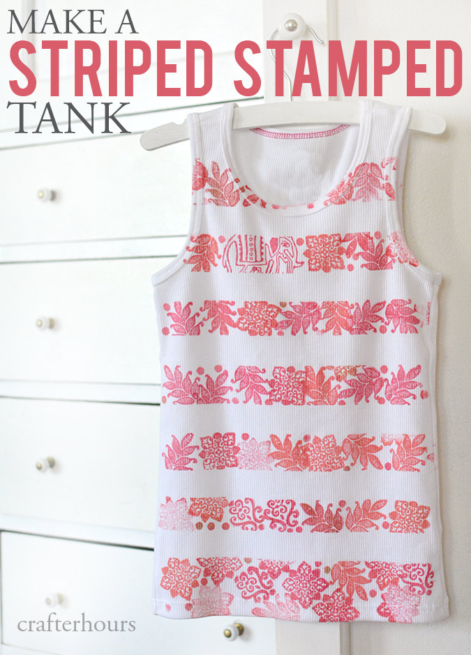 Make a Striped Stamped Tank