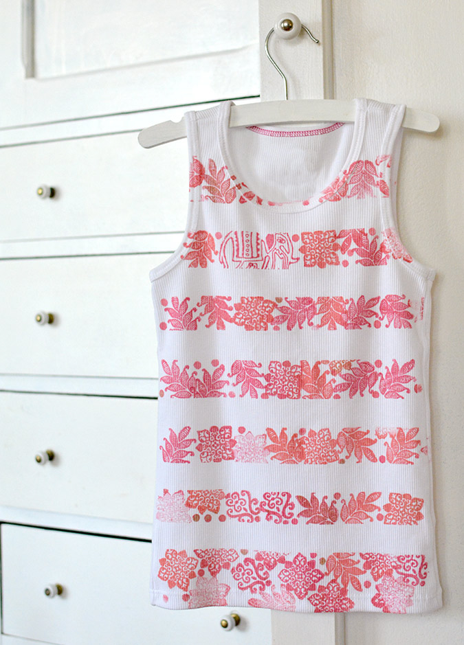 Striped Stamped Tank-12