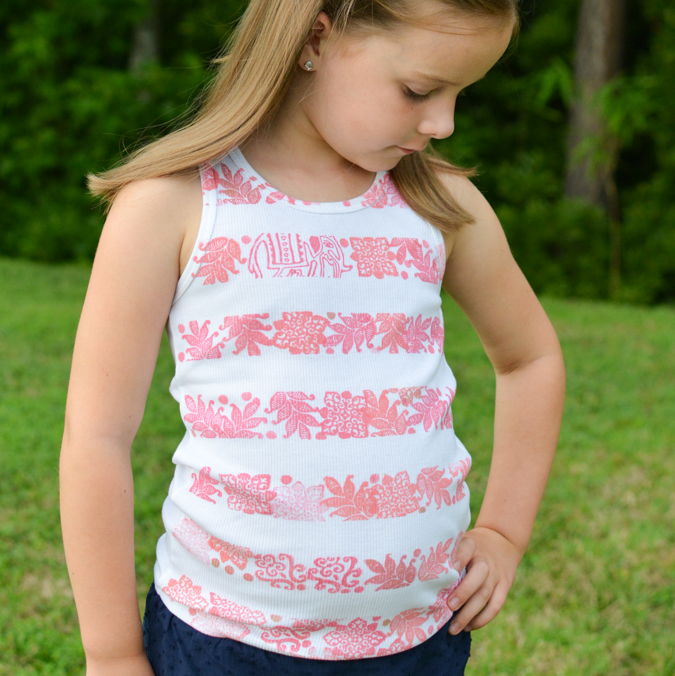 Striped Stamped Tank-13