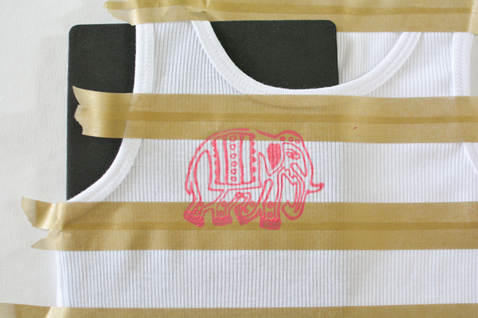 Striped Stamped Tank-6