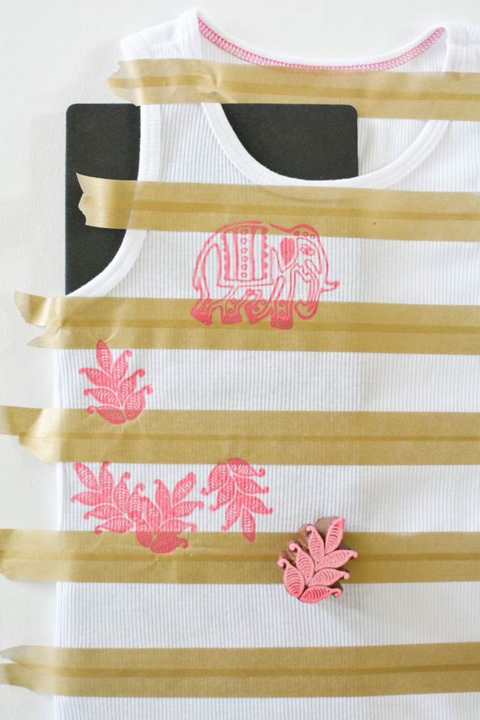 Striped Stamped Tank-7