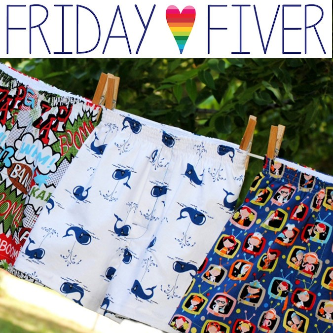 Friday Fiver: for BOYS of ALL AGES!