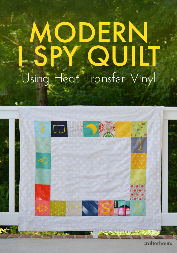 Modern I Spy Quilt using Heat Transfer Vinyl