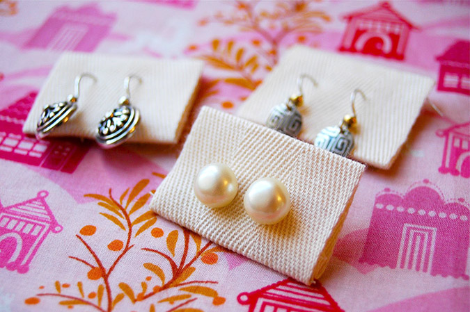 Simple Earring Organizers Tutorial