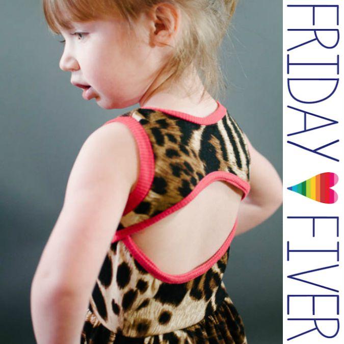 Soleil Dress by Baste + Gather on Friday Fiver