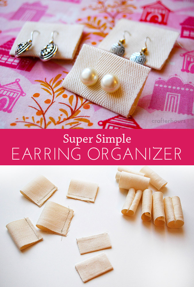 Super Simple Earring Organizer