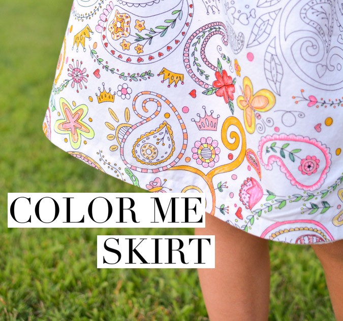 Color Me Border-Print Skirt: A Tutorial