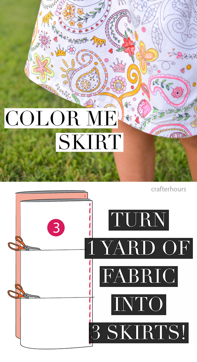 Color-Me-Skirt Tutorial - make 3 skirts from 1 yard of fabric!