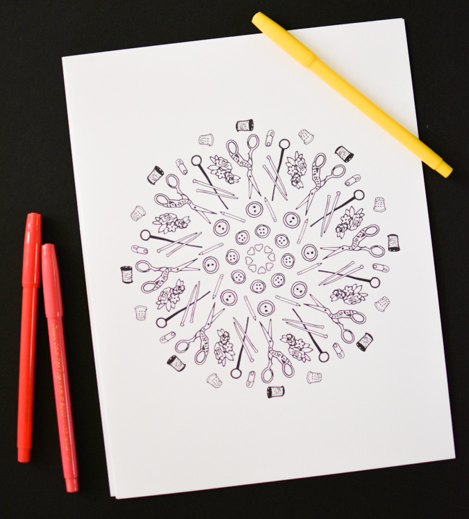 Printable Sewing Coloring Pages-2