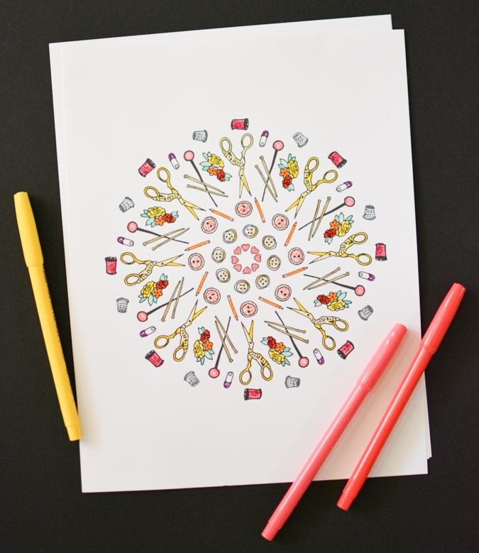 Printable Sewing Coloring Pages-3