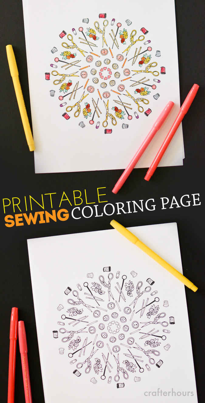 Sewing Coloring Page