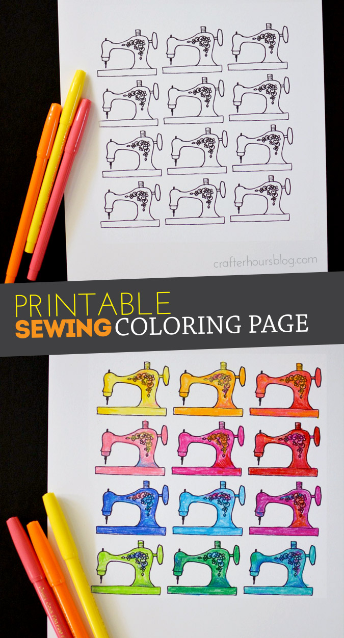 Printable Sewing Machines Coloring Page