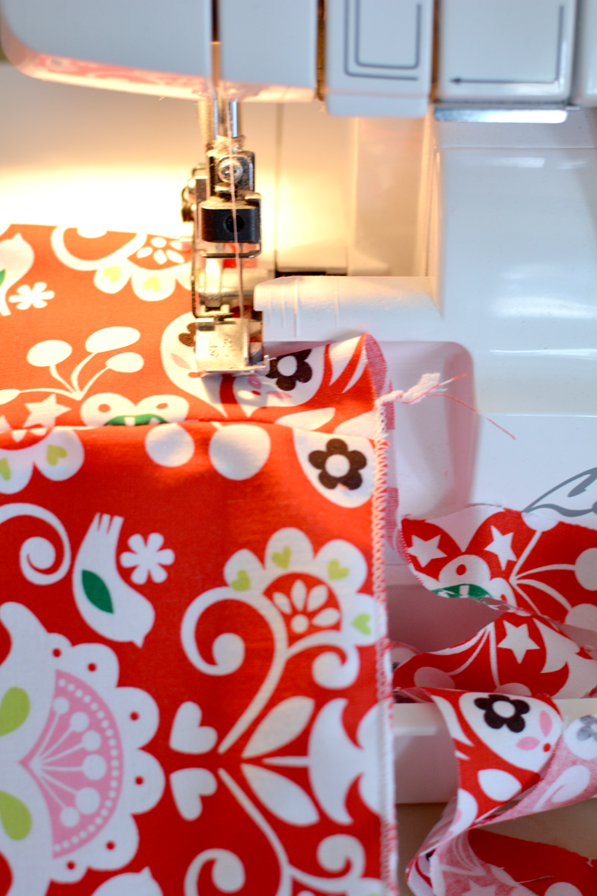 How to make ribbon with a serger - 11 yards from 1:4 yard of fabric