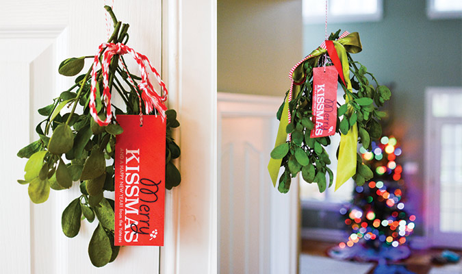 Merry Kissmas Free Mistletoe Gift Tag Printable
