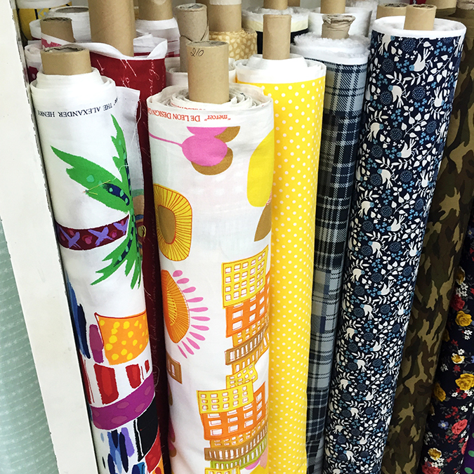 Bangkok fabric shopping Chinatown quilting cotton prints